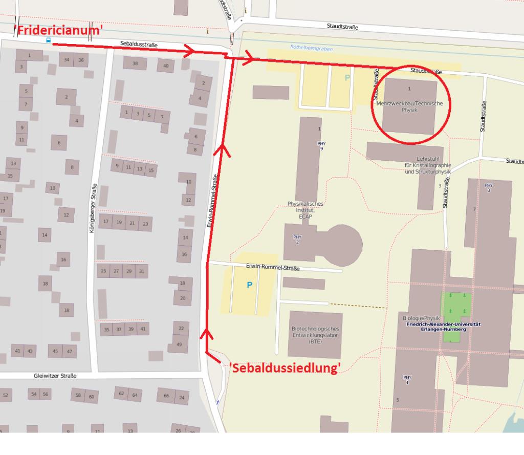 Kontakt Und Anfahrt Lehrstuhl Für Laserphysik